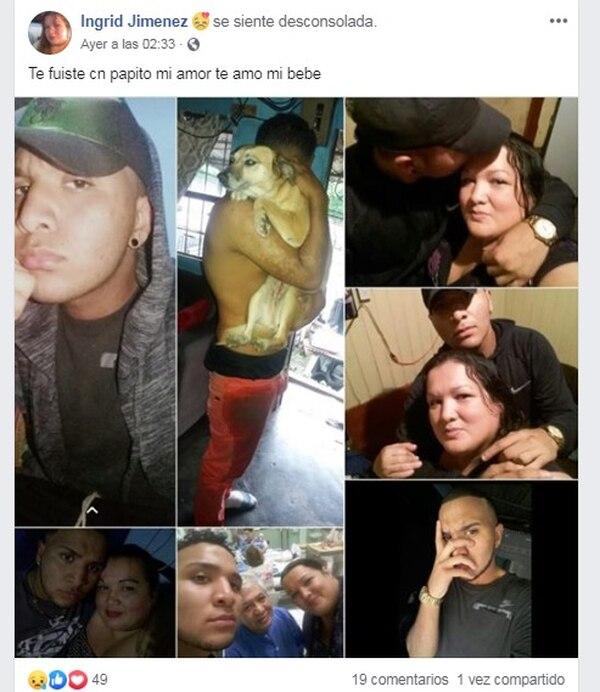 La mamá del joven subió varias fotos de él a su Facebook para despedirlo. Foto: Tomada de Facebook.