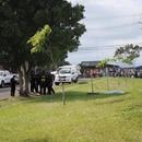 El crimen ocurrió esta tarde frente a un montón de testigos. Foto: Melissa Fernández.