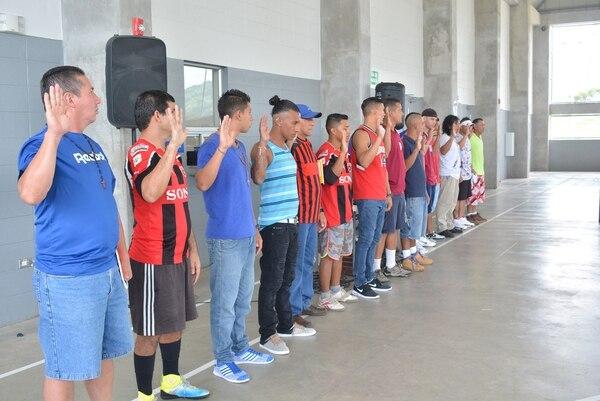 Los reclusos se juramentaron este jueves y prometieron hacer juego limpio. Foto: Shirley Vásquez.