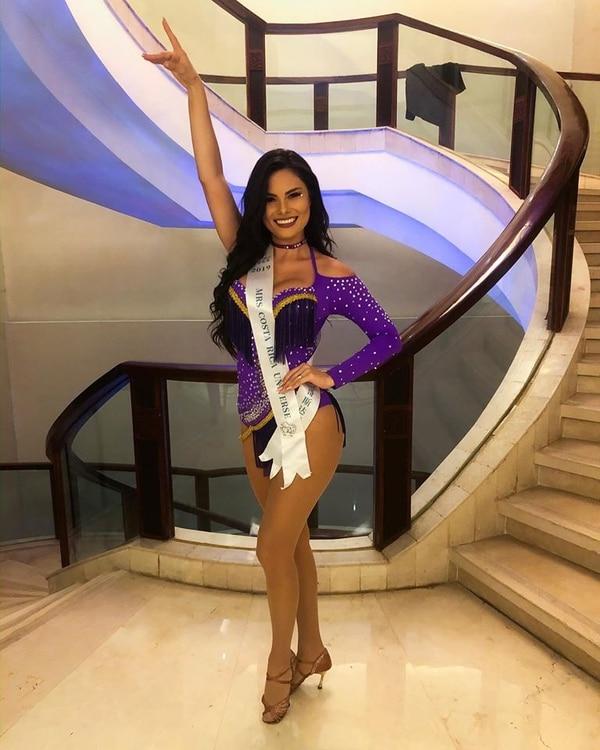 La tica en la prueba de talento presentó un baile latino. Foto: Mrs. Universe.