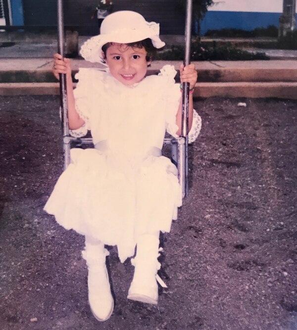 Desde muy pequeña Karolay era muy coqueta, en la foto tenía tres años.