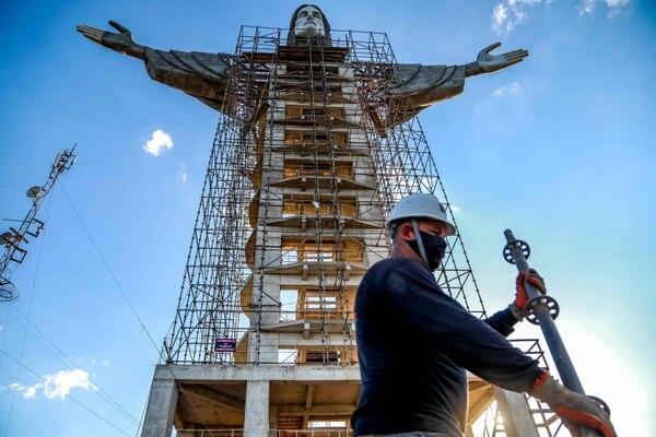 Los trabajos van a buen ritmo. AFP
