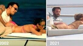 JLO y Ben Affleck recrean sensual imagen del romance que tuvieron en 2002