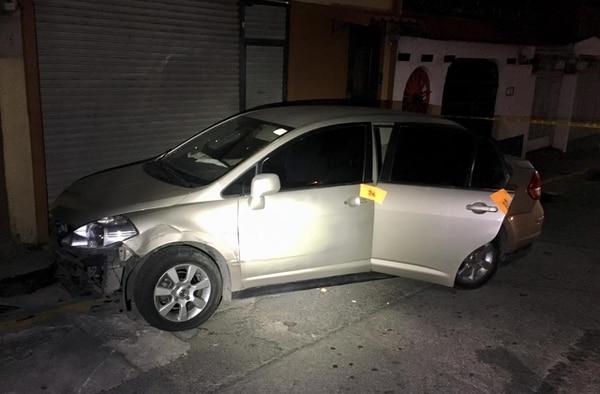 El carro que andaban los hombres tenía una placa que no le corresponde. Foto: Cortesía del MSP.