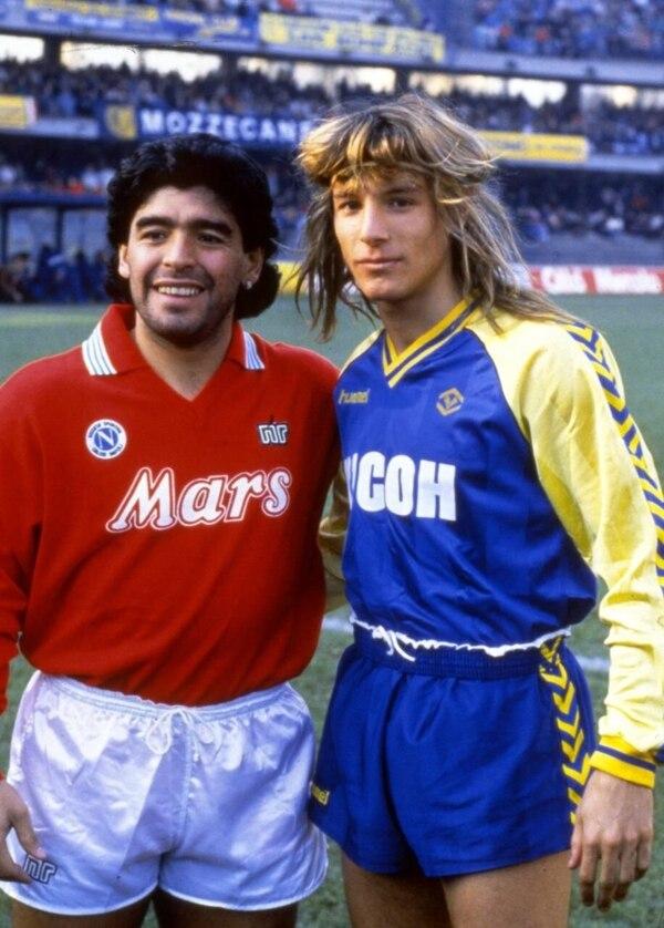 Claudio Caniggia fue la mano derecha de Diego Maradona en la selección argentina. Foto: Pinterest