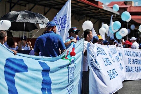 La huelga encabezada por los trabajadores del sector salud en agosto anterior fue declarada ilegal en primera instancia. Foto: John Durán