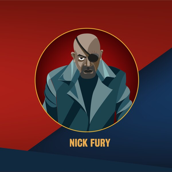 Fury es un viejo conocido de las cintas de Marvel. Ilustración: Francela Zamora