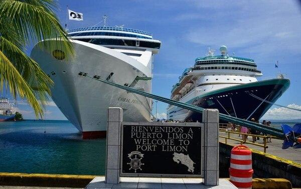 Limón y Puntarenas son los principales puertos de cruceros de nuestro país. Foto: Cortesía ICT