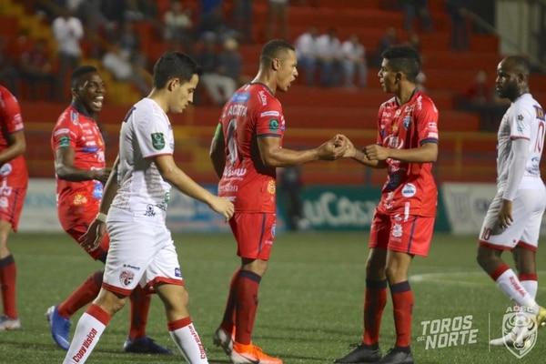 Norteños se la jugaron para por lo menos salir con empate. Foto: Asociación Deportiva San Carlos
