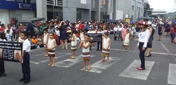 Los chiquitines de la escuela Julián Volio representaron a los habitantes de la Puebla de los Pardos. Foto: Karen Fernández