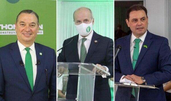 Roberto Thompson, José María Figueres, Carlos Ricardo Benavides, más Rolando Araya y Claudio Alpízar librarán una ruda batalla. (Foto: Cortesía PLN)