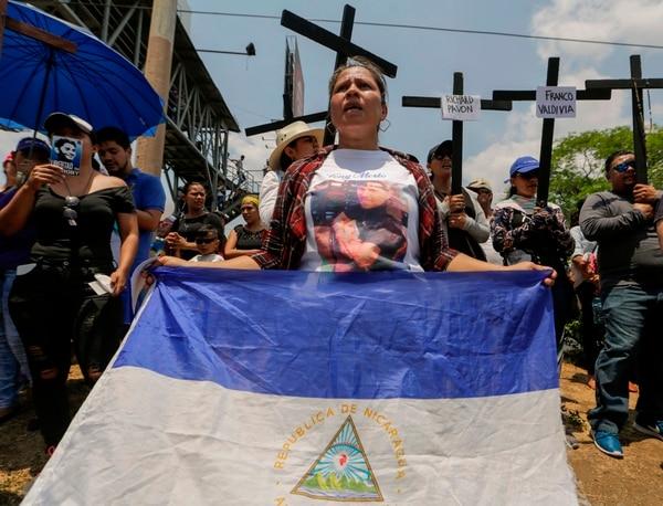 325 personas han fallecido desde que estallaron las protestas en Nicaragua hace un año. AFP