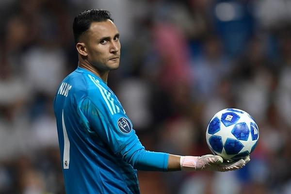 La vida le cambió a Navas y a toda su familia cuando el generaleño se convirtió en el primer tico en jugar con el Real Madrid. AFP