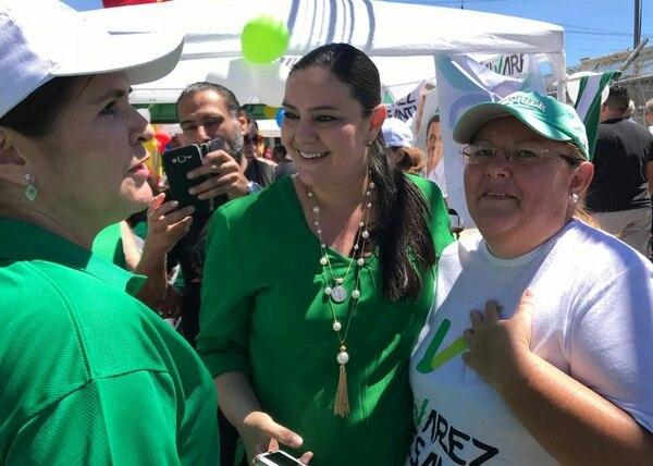 La diputada se comió toda la campaña estando embarazada. Foto: Cortesía.