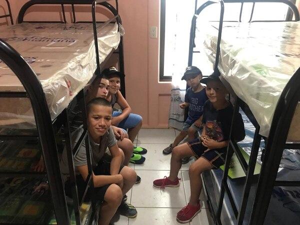 Los cinco hijos ahora dormirán en camarotes.