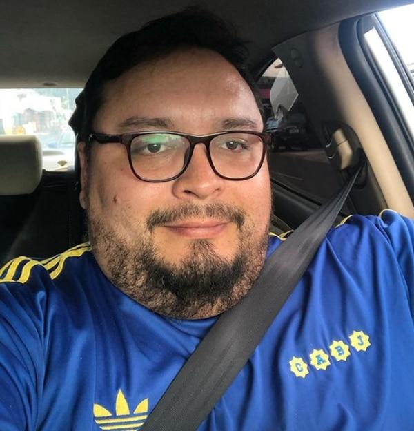 Adrián Méndez, periodista Teletica, es superfiebre del equipo Boca Juniors de Argentina. Instagram