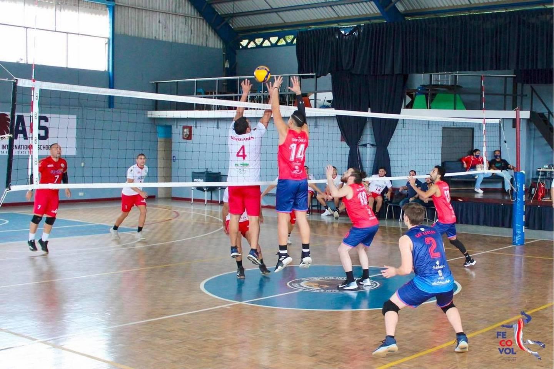 Inicio del campeonato nacional de voleibol. Prensa.