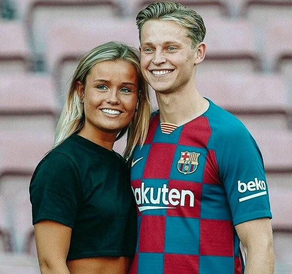 Mikky Kiemeney es la novia del volante holandés del Barcelona Frenkie De Jong. Foto: Instagram