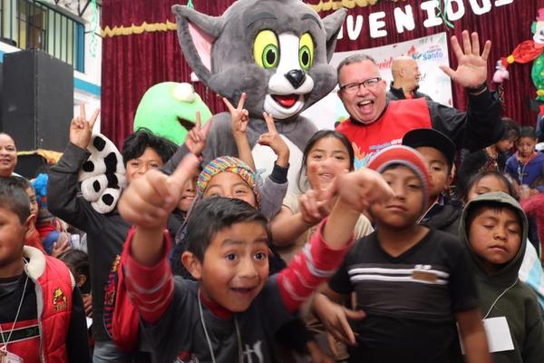 Tremenda alegría en la fiesta navideña guatemalteca. Cortesía.