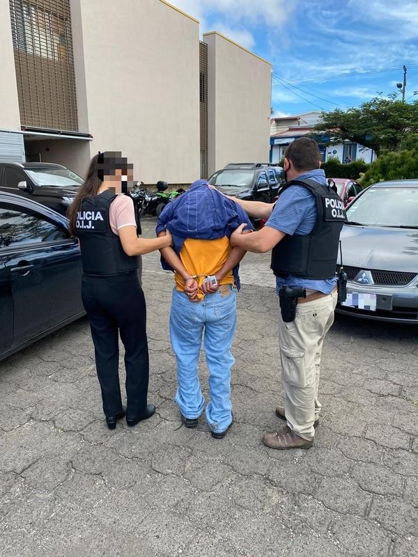 Villareal fue detenido un día después cuando el OIJ allanó su casa en Paraíso de Cartago. Foto: Cortesía OIJ.