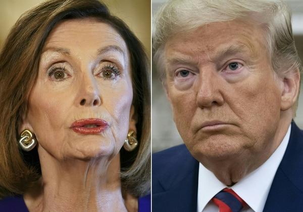 Nancy Pelosi mantiene firme la idea de sacarlo del poder. AFP