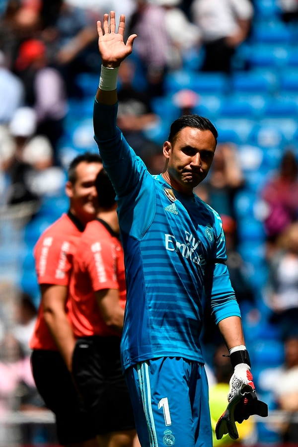 El domingo pasado ante Real Betis habría sido la despedida de Madrid para Keylor. (Photo by PIERRE-PHILIPPE MARCOU / AFP)