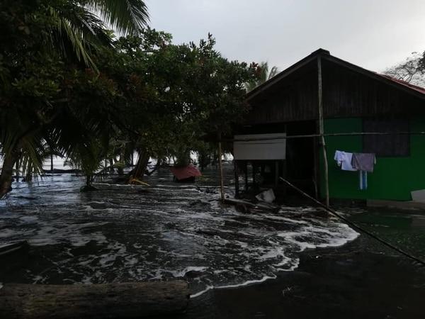 43 familias reportaron afectación en sus viviendas en el Caribe. Foto: CNE