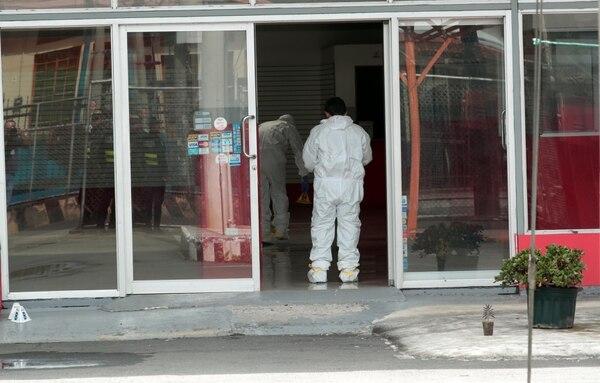 El guarda tenía muchas heridas de cuchillo. Foto: Alonso Tenorio