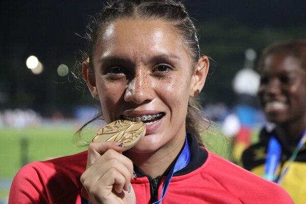 Andrea es la única que ha conseguido una medalla de oro para Costa Rica en estas justas. Foto: PRENSA EQUIPO OLÍMPICO CRC