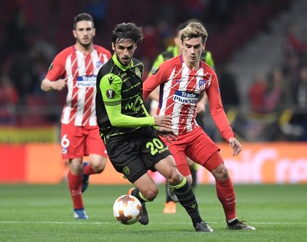 Bryan Ruiz jugó toda la mejenga ante el Atlético y hasta le anduvo de cerca al gol. Foto: AFP