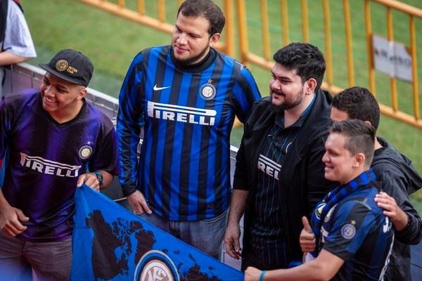 Esta buena barra del Inter llegó a buscar específicamente a jugadores como Materazzi. Fotografía José Cordero