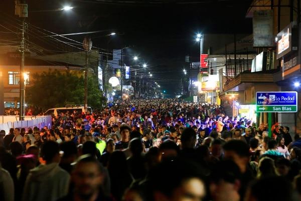 La romería reúne a miles de personas entre la noche del 1º y la madrugada del 2 de agosto. Foto: Rafael Pacheco