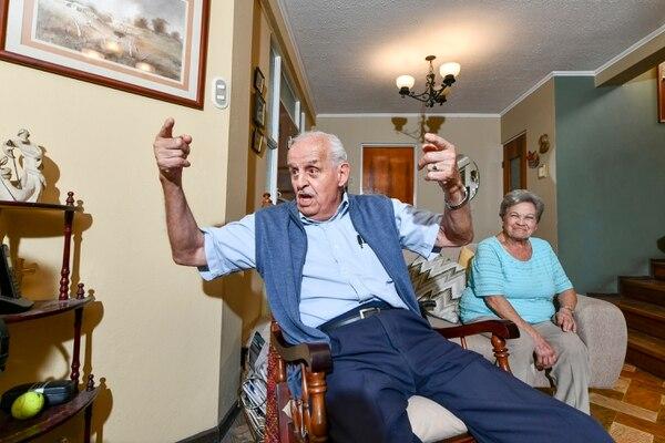Pérez , de 83 años, está casado con doña María de los Ángeles Cordero, hermana del famoso exjugador Mario Catato Cordero (q.e.p.d). Jorge Castillo.