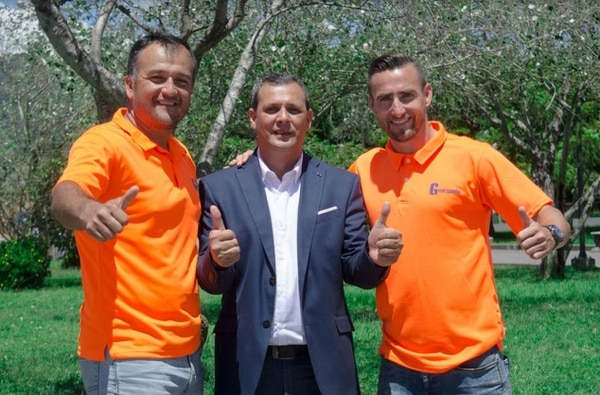 Pedro Navarro, Bernal Molina y Paolo Jiménez representan al partido Unión Guarqueño. Cortesía