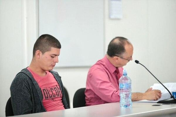 Jimmy Orlando Zúñiga Medina lloró al finalizar el debate, al indicar que nunca tuvo intención de matar a su papá. Foto: Alonso Tenorio