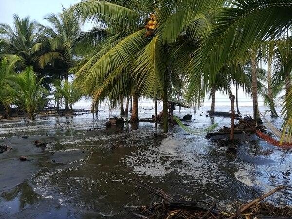 Las olas llegan con gran tamaño a la orilla de la playa. Fotos cortesía CNE
