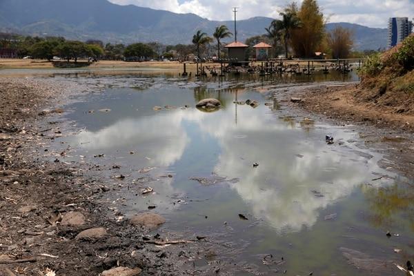 La falta de lluvia tiene el lago seco. Fotos: Mayela López