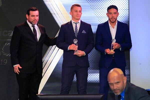Moreira se proclamó este martes como el mejor arquero del Apertura 2018, mientras que su compañero en la Sele, Bryan Segura, fue el mejor del Clausura 2019. Foto: Rafael Pacheco