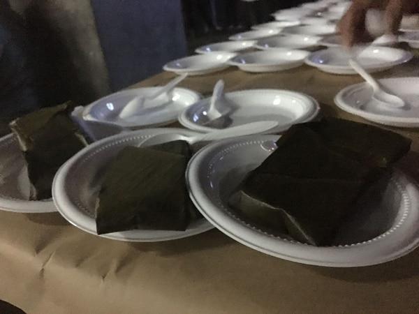 Los tamalitos estaban pequeñitos para seguir las recomendaciones de la Caja. Foto: Flor Calderón.