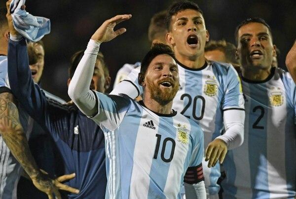 Argentina se clasificó al Mundial en la última jornada de la eliminatoria. Foto AFP / Juan Ruiz
