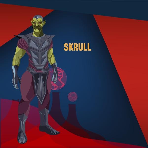 Esta será la primera aparición de los Skrulls en el universo cinematográfico de Marvel, pero se cree que en el futuro tendrán gran importancia. Ilustración: Francella Zamora