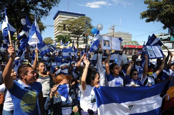 Los pinoleros protesaron de forma pacífica. Fotos Melissa Fernández