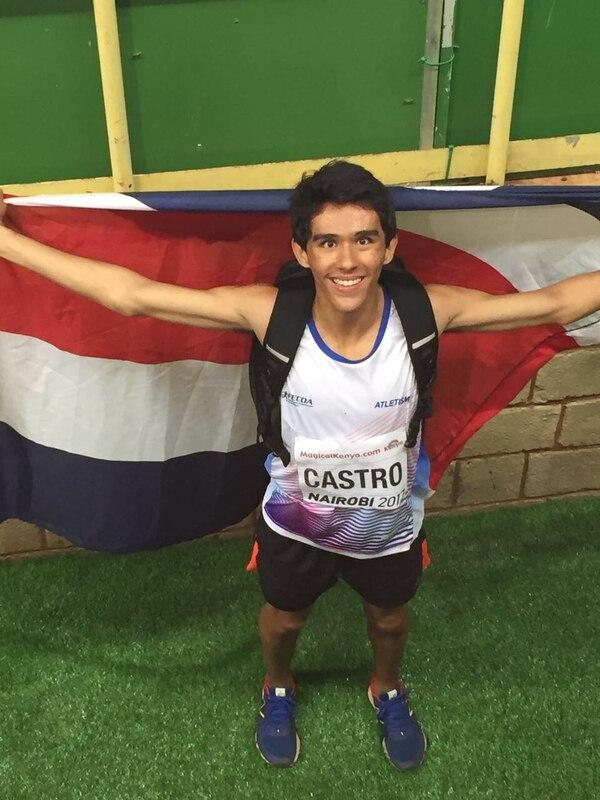 Juan Diego Castro pone la bandera patria en lo más alto del atletismo mundial. Fotografía de la Fecoa.
