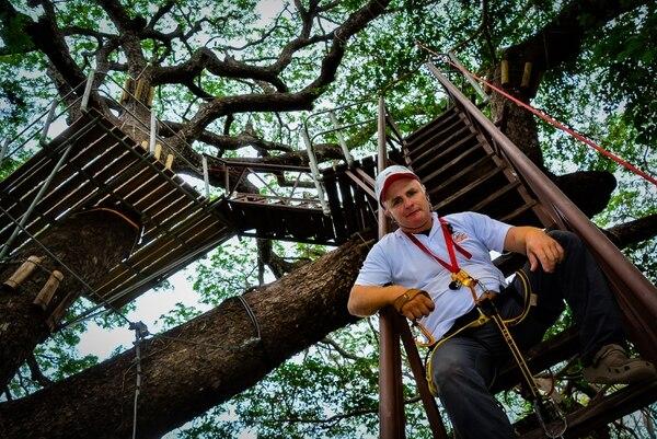 Pizarro sacó el bachi hasta los 28 años pero eso no fue un freno para él. Foto: Cortesía: Hiltop Adventure Park