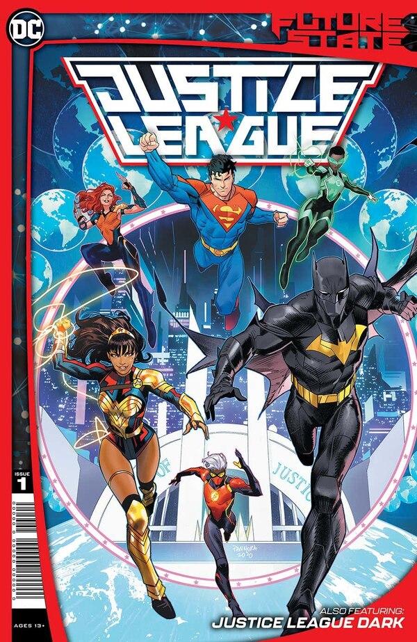 Esta portada para una revista de comics, de la Liga de la Justicia, también fue hecha por Daniel. Cortesía.