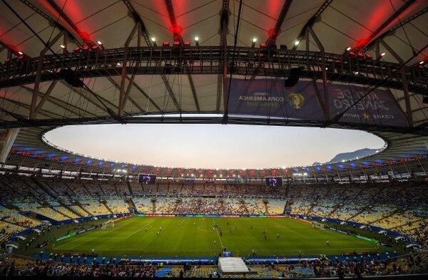 El Maracaná estuvo pelado para el juego entre Paraguay y Catar. (Photo by Mauro PIMENTEL / AFP)