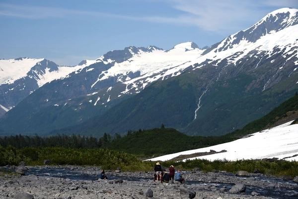 Las montañas cada vez se ven menos blancas. AFP