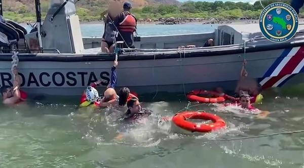El accidente involucró a seis personas en la playa de Caldera. Cortesía MSP.
