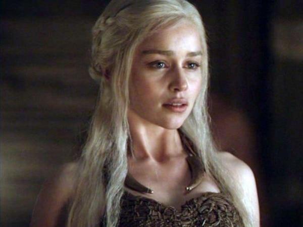 La actriz Emilia Clarke confesó que tuvo que recurrir al alcohol para grabar la escena de sexo. Tomada de Trome