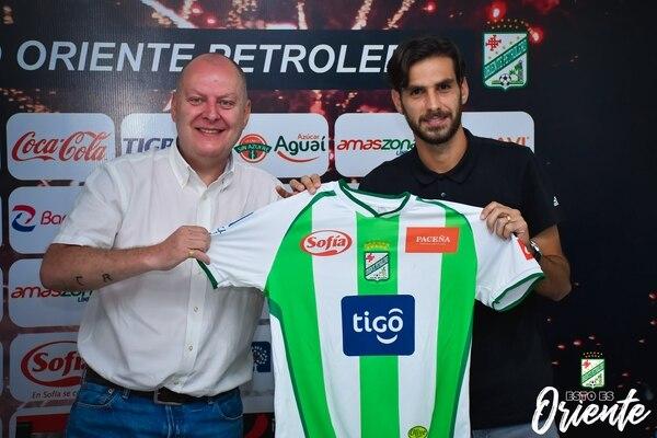 Desde febrero pasado, Yendrick juega en Bolivia. Fotografía: Facebook de Oriente Petrolero.
